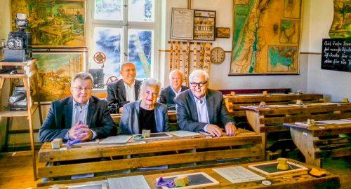Besuch von Walter Steinmeier in seinem damaligen Wahlkreis Reckahn